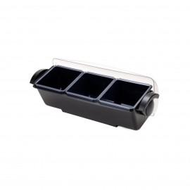 Deep Condiment Holder 3 Compartments
