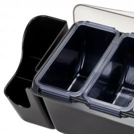 Deep Condiment Holder 6 Compartments