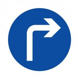 Compulsory Turn Right Ahead