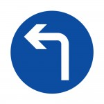 Compulsory Turn Left Ahead