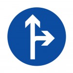 Compulsory Ahead or Turn Right