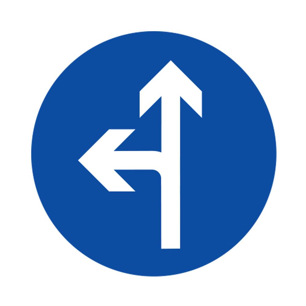 Compulsory Ahead or Turn Left