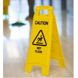 A Shape Caution Sign