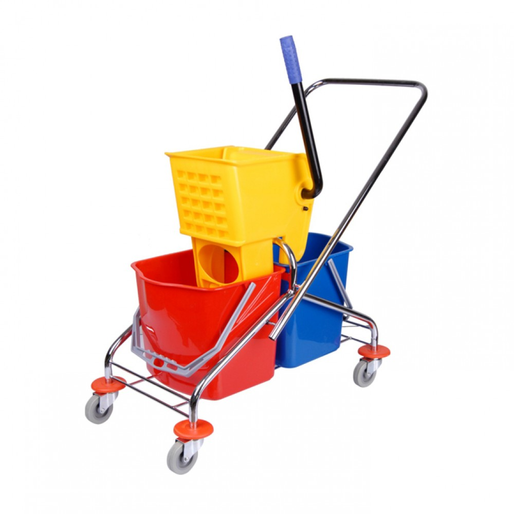 2 BucketsMop Wringer Trolley 60 L