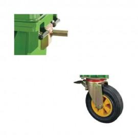 4 Wheels Garbage Bin 660L (Steel Handle)