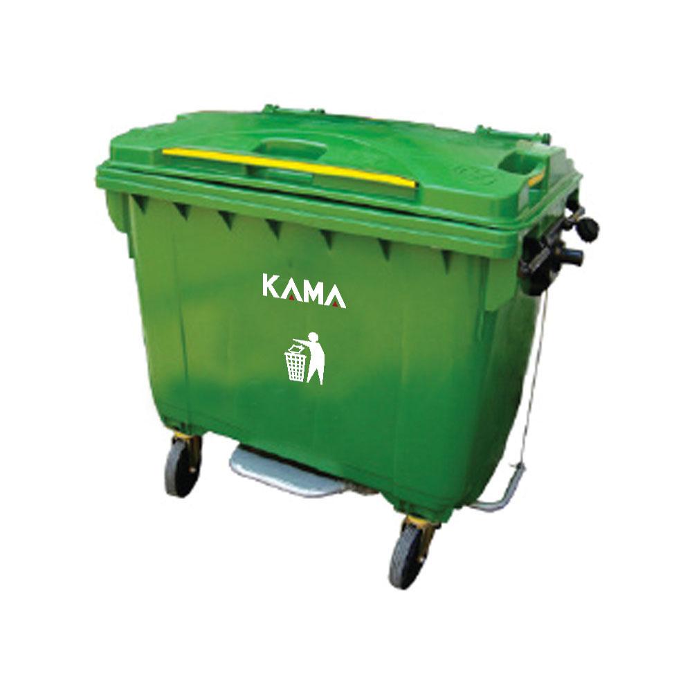 4 Wheels pedal Garbage Bin 660L (Steel Handle)