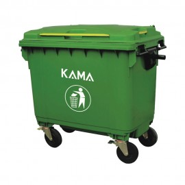 4 Wheels Garbage Bin 1100L (Steel Handle)